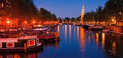 Amsterdam v noci