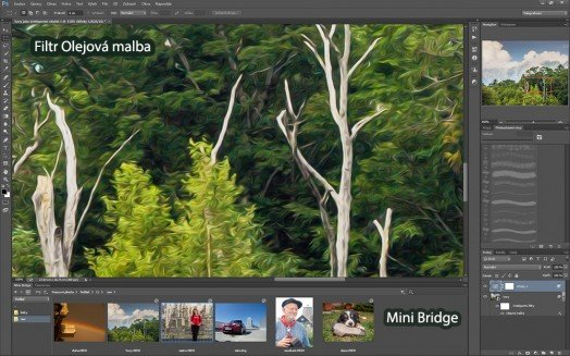 Olejovou malbu a Mini bridge v nejnovější verzi Photoshopu už nenajdete.