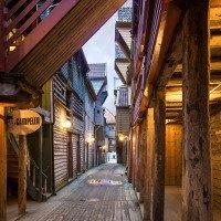 Dřevěné domy v Bryggenu