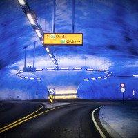 Kruhový objezd v tunelu