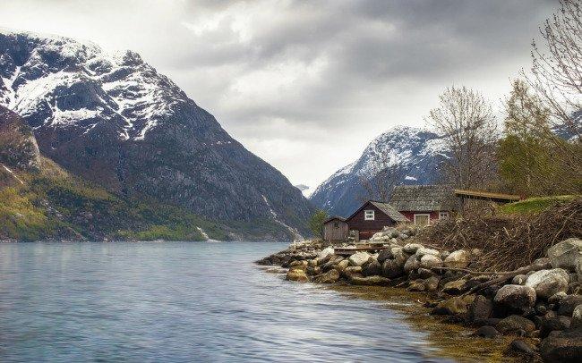 Chatky v Eidfjordu