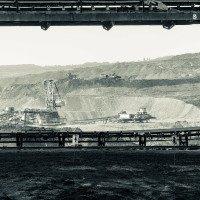 Výhled na těžební oblast