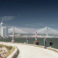 Most Vasco de Gama navazuje na areál Expa