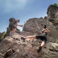 Ferrata na Pastýřské stěně - celkem 14 tras - doporučuji :)