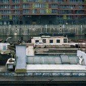 Holešovický přístav - lodě naskládané jako sardinky v konzervě