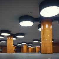 Vykachlíkované prostory pod ICC