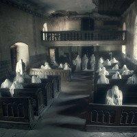 Kostel duchů - pohled z kazatelny