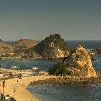 Výhled na kopečky u pláže Kuta