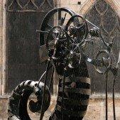 Mechanická fontána poblíž Pompidou