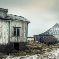Opuštěné domky ve vnitrozemí