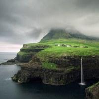 Múlafossur - jedno z nejznámnějších míst na Faerských ostrovech