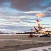 Odlet z letiště Evenes u Narviku