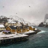 Nusfjord - fotogenicky hnusné počasí