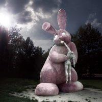 Panoptikum - socha králíka v Plzni