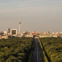 Výhled na panorama Berlína a Braniborskou bránu