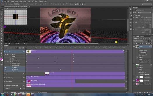 Photoshop CS6 umí i editovat video a vytvářet jednodušší 3D animace