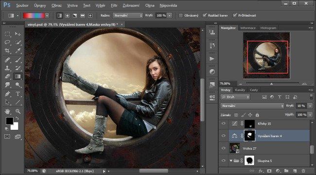 Adobe Photoshop - úprava pomocí vrstev a masek