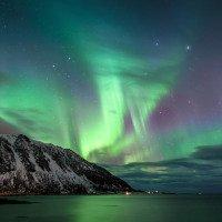 Polární záře nad Grunnfor fjordem