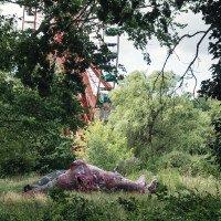 Padlý Tyranosaurus ve Spree parku