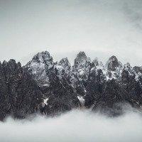 Dolomity v mracích