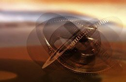Točící se kovový kroužek