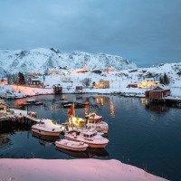 Sund - přístav a domy