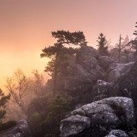 Skály a ranní světlo