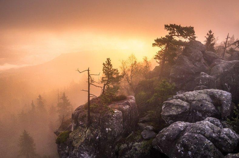 Mlha a do toho slunce - co víc chtít :)