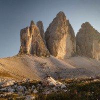 Tre Cime - asi nejznámnější skalní útvar v Alpách. Zahrál si i v několika filmech.