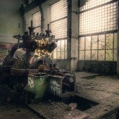 Stará teplárna - zbytek generátoru