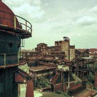 výhled na areál Vítkovických železáren