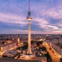 Výhled na Berlínský vysílač a Alexanderplatz