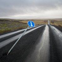 Dopravní značka uprostřed ničeho